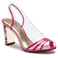 Sandały AZURÉE - Nadir 9BM Vernis Frambo 71, kolor różowy