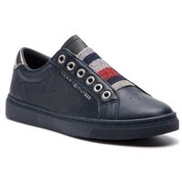 Tommy hilfiger Sneakersy - tommy elastic essential sneaker fw0fw03707 midnight 403