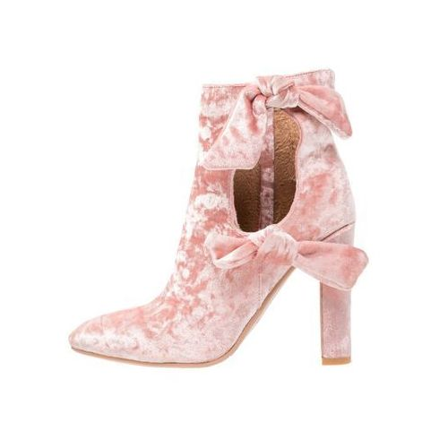 Lavish Alice CUT OUT DOUBLE TIE Botki na obcasie rosa, kolor różowy