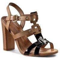 Sandały - dn354m-sko-blbg-9931-0 czarny/beż 99/80 marki Gino rossi
