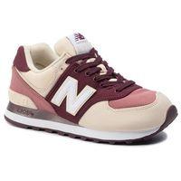 Sneakersy - wl574inb beżowy bordowy, New balance