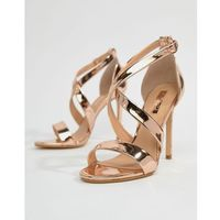 harper rose gold strappy heeled sandals - gold, Office