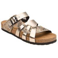 Klapki buty Dr Brinkmann 700991-82 Złote - Złoty ||Multikolor (4053519736041)