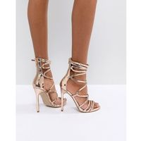 Steve madden flaunt heeled sandals - gold