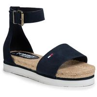 Espadryle TOMMY JEANS - Natural Rope Sandal EN0EN00914 Twilight Navy C87