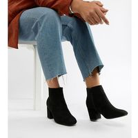 wide fit mid heel ankle boots - black, Truffle collection