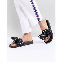 Monki Polka Dot Slider - Black, kolor czarny