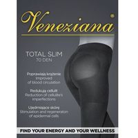 Rajstopy Veneziana Total Slim 70 den 4-L, czarny/nero, Veneziana, kolor czarny