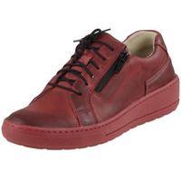 Półbuty Wasak 0439 - Czerwone, kolor czerwony