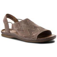 Sandały CLARKS - Sarla Cadence 261322534 Grey Nubuck