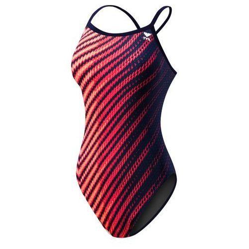 Tyr echelon diamondfit - damski strój treningowy (granatowo-czerwony)