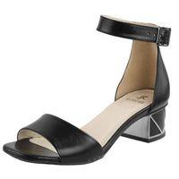 Sandały letnie czarne klocek licowa marki Kordel