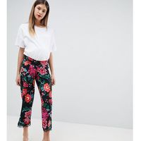 Asos maternity Asos design maternity low rise bump band pyjama trouser in jersey with lace hem in floral print - multi