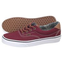 Półbuty Vans Era 59 (CL) Port Royale/Stripe Denim VN0003S4IA6 (VA93-c), kolor czerwony