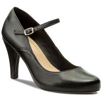 Półbuty CLARKS - Dalia Lily 261332714 Black Leather, kolor czarny