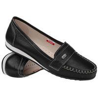 Mokasyny wsuwane buty AXEL Comfort 1513 Black - Czarny, kolor czarny
