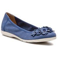 Baleriny CAPRICE - 9-22153-22 Jeans Nubuc 895, w 7 rozmiarach