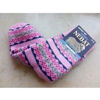 Skarpety rozgrzewające wełniane (80%) thermal - rozm. 36-39 - wzór9 - prod. nebat marki Nebat (turcja)