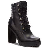 Botki - studs lace up heeled en0en00325 black 990 marki Tommy jeans