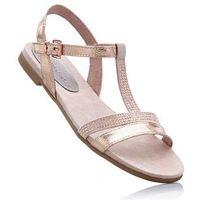 Sandały Marco Tozzi bonprix dymny różowy metaliczny
