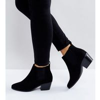 ASOS REVIVE Wide Fit Chelsea Ankle Boots - Black