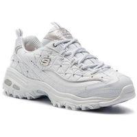 Sneakersy SKECHERS - D'lites Glamour Feels 13087/WSL White/Silver, kolor biały