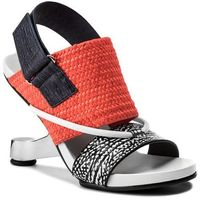 Sandały UNITED NUDE - Eamz Tribal 1028441646108 Black And White Mix/Neon Red/Navy, kolor pomarańczowy