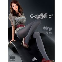 Gabriella Rajstopy melange 130 50 den rozmiar: 2-s, kolor: czarny/nero, gabriella
