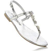 Sandały japonki srebrny, Bonprix, 36-37