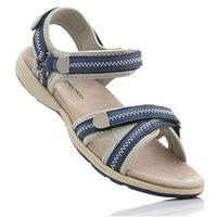 Sandały bonprix ciemnoniebiesko-beżowy, kolor niebieski