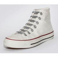 Shoeps Silikonowe sznurowadła do butów Silver (8717703450316)