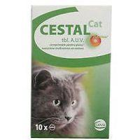 tabletki odrobaczające dla kota: opakowanie - 10 sztuk marki Cestal