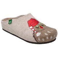 Dr brinkmann Kapcie 320542-8 beżowe pantofle domowe ciapy zdrowotne - beżowy ||brązowy