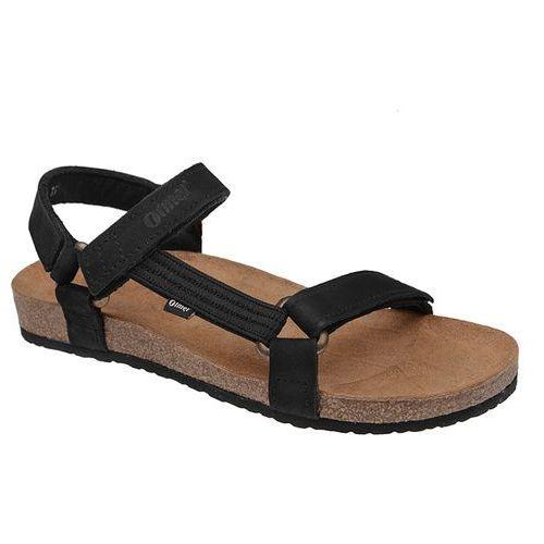 Sandały OTMĘT 405CP Czarne Jezuski BioForm Fussbett - Czarny ||Beżowy, kolor czarny