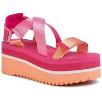 Tommy jeans Sandały - pop color flatform sandal en0en00847 red xif