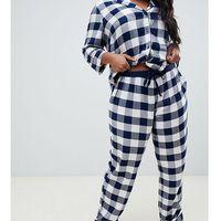 ASOS DESIGN Curve mix & match gingham trouser - Navy, kolor szary