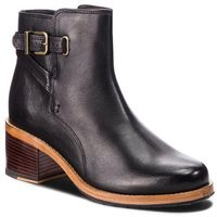 Botki CLARKS - Clarkdale Jax 261359804 Black Leather, kolor czarny