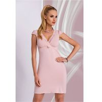 Koszula Nocna Model Ariana Dirty Pink, kolor różowy