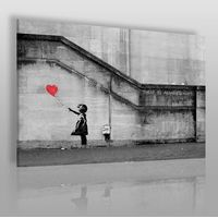 Banksy - dziewczynka - nowoczesny obraz na płótnie marki Vaku-dsgn