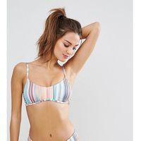 Free Society Stripe Bralette Bikini Top - Multi, braletka