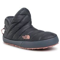 Kapcie THE NORTH FACE - Thermoball Traction Bootie NF0A331HVE81 Vanadis Grey/Pink Clay, kolor szary