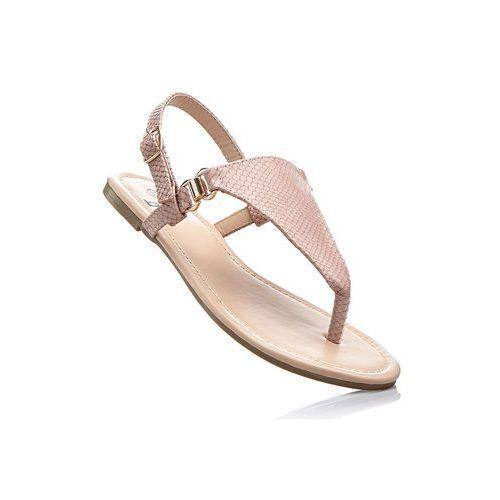Sandały japonki jasnoróżowy, Bonprix, 38-42