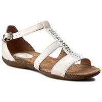 Sandały CLARKS - Autumn Fresh 261259094 White Combi Leather, 1 rozmiar
