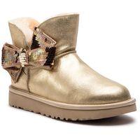 Buty - w mini sequin bow 1096012 w/gold marki Ugg