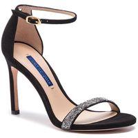 Sandały STUART WEITZMAN - Nudistsong ZL37423 Black Sue/Crystal, w 6 rozmiarach
