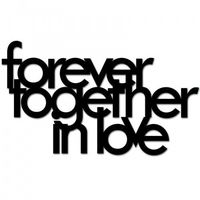 Napis na ścianę forever together in love czarny ftil1-1 marki Dekosign