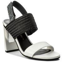 Sandały - zink slingback hi 10300477114 white/black/black and white mix marki United nude