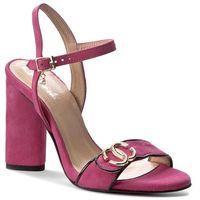 Sandały R.POLAŃSKI - 0874 Magnolia Zamsz, kolor różowy