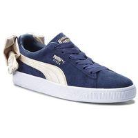 Sneakersy - suede bow varsity wn's 367732 02 peacoat/metallic gold marki Puma