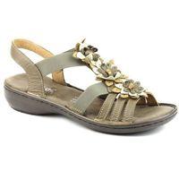 Sandały damskie Rieker 60858, kolor beżowy